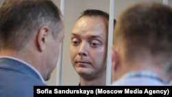 Ivan Safronov in court earlier this year