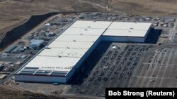 An aerial view of the Tesla Gigafactory in Nevada, where the electric car company makes batteries. (file photo)