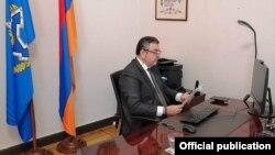 Постоянный представитель Армении при ОДКБ Виктор Биягов, 29 сентября 2020 г.