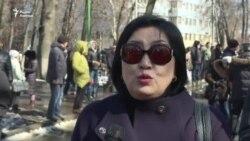 Джакупова о задержании Текебаева