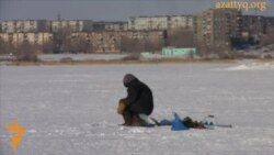 Зимняя рыбалка на Балхаше