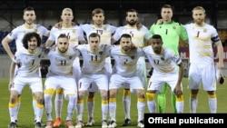 Лихтенштейн - Сборная Армении по футболу на стадионе «Рейнпарк» в Вадуце перед игрой
