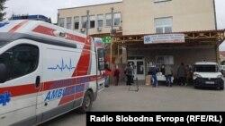 Амбулантно возило пред здравствен дом во Битола