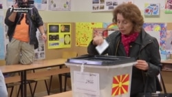 Presidential Candidates Vote In North Macedonia's Runoff