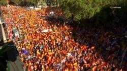 В Барселоне протестуют против независимости Каталонии (видео)