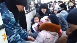 Задержание детей и женщин в Астане