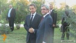 Nicolas Sarkozy Visits Armenian Genocide Memorial In Yerevan