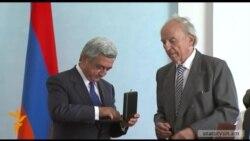 Սերժ Սարգսյանը պարգեւատրվեց «Ռաուլ Վալենբերգի 100-ամյակի մեդալով»