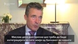 Расмусен: Сите земји од Балканот треба да станат членки на НАТО