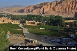 A view of Bamiyan City.