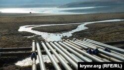 В декабре 2020 года в Крыму прекратили перекачивать воду из Белогорского и Тайганского водохранилищ по временному водоводу в Симферопольское