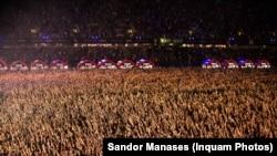 Peste 70.000 de oameni prezenți pe Cluj Arena au participat la concertul Robbie Williams de pe Cluj Arena - Untold 2019