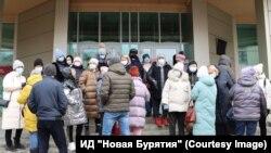 """Пикет предпринимателей Улан-Удэ против локдауна. Фото – ИД """"Новая Бурятия"""""""