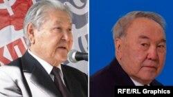 Серикболсын Абильдин, председатель Верховного Совета Казахстана в 1990—1993 годах, и бывший президент Казахстана Нурсултан Назарбаев. Составное фото