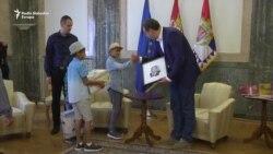 Vučić video 'Malog Pikasa'