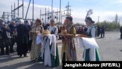 Церемония открытия дороги Сох-Риштан. 1 апреля 2021 года.