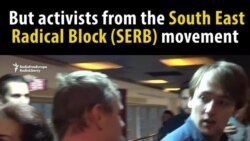 Russian Nationalists Disrupt Screening Of Film On Ukraine