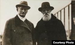 Николай Чайковский и американский посол Дэвид Фрэнсис, 1918/ US National Archives