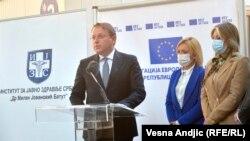 Европскиот комесар за проширување Оливер Вархеји во Белград, 03.05.2021.