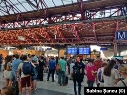 Sute de minunte de întârziere din cauza accidentului de la Fetești și a furtunii de aseară din București - București, Gara de Nord - joi dimineață, 29 iulie 2021