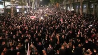 Drone Shots Show Tbilisi Filled With Saakashvili Supporters