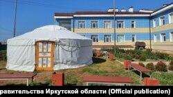 Юрта в иркутской школе