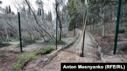 Строительный забор в Форосском парке