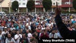 На мітынгу шахцёраў у Салігорску 19 жніўня
