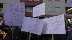 Протести пред МВР за случувањата со крстот во Бутел