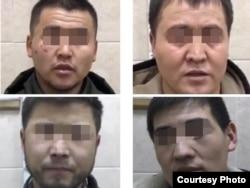 Подозреваемые в разбое кыргызстанцы, февраль 2020 г. (фото портала fontanka.ru).