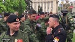 Бойовики «Гіві» і «Моторола» зустрілися на параді у Донецьку
