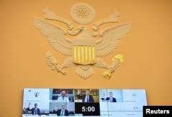 IT корпорациялардын жетекчилери Конгресс өкүлдөрүнүн суроолоруна видеобайланыш аркылуу жооп беришти. 29-июль, 2020-жыл.