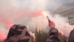 «Нацкорпус» та «Нацдружини» вдруге пікетували будинок Гладковського – відео