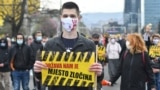 Bosnia and Herzegovina, Sarajevo, Protest due to lack of COVID-19 vaccines and the general negligence of the authorities due to the coronavirus, in Sarajevo, April 6, 2021.