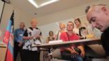 Відкриття так званого представництва «ДНР» у Чехії, що було закрите наступного дня