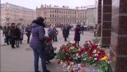 Траур по погибшим в Петербурге