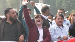 Journalists Protest Against Increasing Curbs On Media In Pakistan