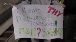 Kiyevde Qırım talebelerine destek kösterildi (video)