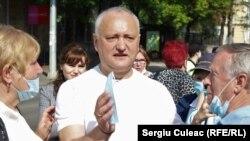 Igor Dodon, al treilea maraton de vaccinare anti Covid-19, Chișinău, 26 iunie 2021