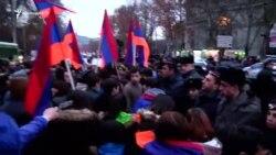 В Ереване продолжились акции протеста в память о «Доставщике еды»