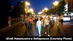 Акції на підтримку заарештованого губернатора в Хабаровську, Росія, 12 липня