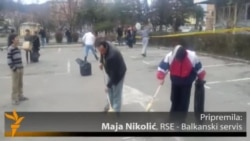 Čišćenje Tuzle nakon protesta