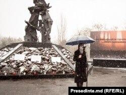 """Președinta Maia Sandu la Memorialul """"Victimelor fascismului"""", 27 ianuarie, 2021"""