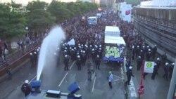 შეტაკება პოლიციასა და დემონსტრანტებს შორის ჰამბურგში