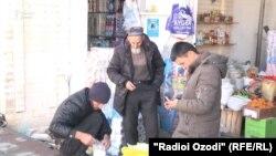 Яке аз бозорҳои Душанбе