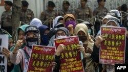 Акция в защиту уйгурского населения Китая. Иллюстративное фото.