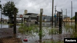 Затоплені споруди в районі затоки Верміліон, штат Луїзіана, США, 26 серпня 2020 року