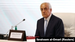 Zalmay Khalilzad, U.S. envoy for peace in Afghanistan, during intra-Afghan talks in Doha, Qatar, on September 12, 2020.
