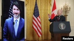 ملاقات ویدیویی جو بایدن با صدراعظم کانادا