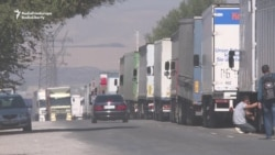 Lines At Border Amid Kyrgyz-Kazakh Spat